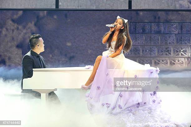 Ariana Grande performs at Mediolanum Forum on May 25 2015 in Milan Italy