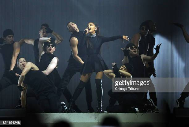 Ariana Grande performs at the United Center on March 14 2017 in Chicago