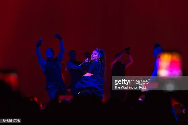 C FEBRUARY 27 2017 Ariana Grande performs at the Verizon Center in Washington DC on February 27 2017