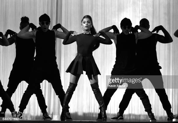 Ariana Grande performs onstage during her 'Dangerous Woman' tour at Madison Square Garden on February 23 2017 in New York City