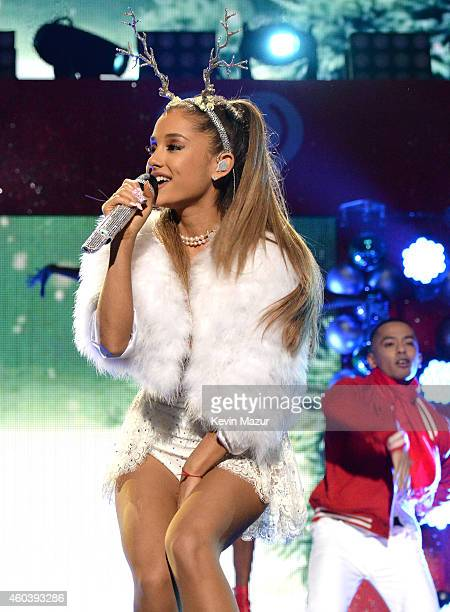 Ariana Grande performs onstage during iHeartRadio Jingle Ball 2014 hosted by Z100 New York and presented by Goldfish Puffs at Madison Square Garden...