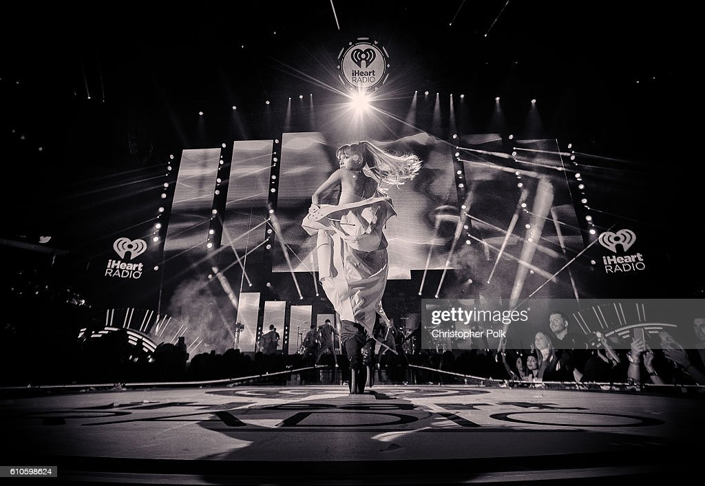 Ariana Grande performs onstage during the 2016 iHeartRadio Music Festival at T-Mobile Arena on September 24, 2016 in Las Vegas, Nevada.