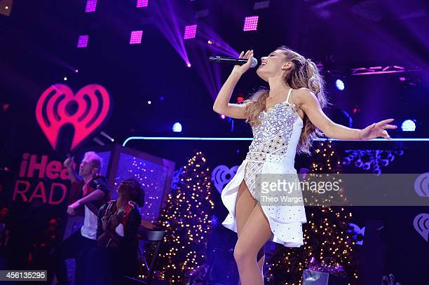 Ariana Grande performs onstage during Z100's Jingle Ball 2013 presented by Aeropostale at Madison Square Garden on December 13 2013 in New York City