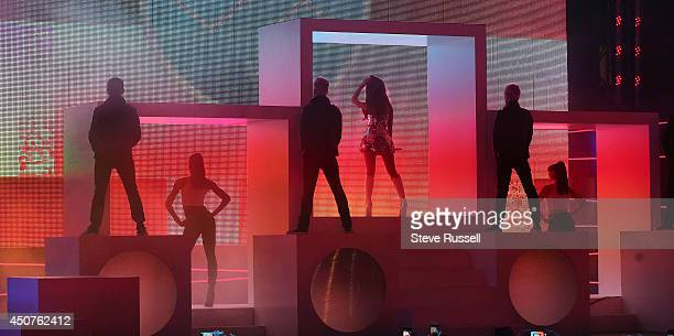TORONTO ON JUNE 15 Ariana Grande performs 'Problem' to close out the Much Music Video Awards at MuchMusic on Queen Street West in Toronto June 15 2014
