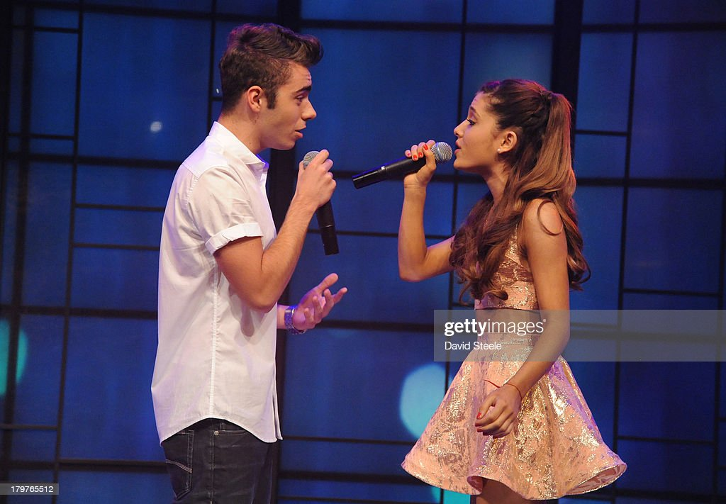 MICHAEL -9/5/13 - Ariana Grande performs with Nathan Sykes of The Wanted on 'LIVE with Kelly and Michael,' distributed by Disney-ABC Domestic Television. NATHAN