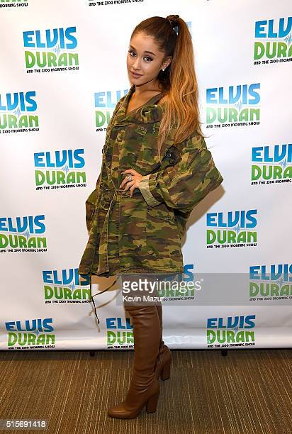 Ariana Grande visits 'The Elvis Duran Z100 Morning Show' at Z100 Studio on March 15 2016 in New York City