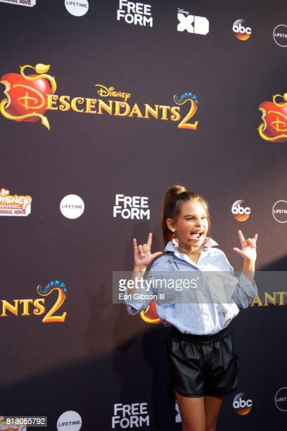 Ariana Greenblatt attends the Premiere Of Disney Channel's 'Descendants 2' at The Cinerama Dome on July 11 2017 in Los Angeles California