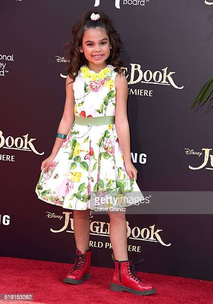 Ariana Greenblatt attends the premiere of Disney's 'The Jungle Book' at the El Capitan Theatre on April 4 2016 in Hollywood California