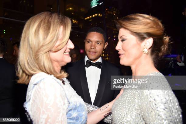 Ariana Huffington Trevor Noah and Norah O'Donnell attend the 2017 TIME 100 Gala at Jazz at Lincoln Center on April 25 2017 in New York City