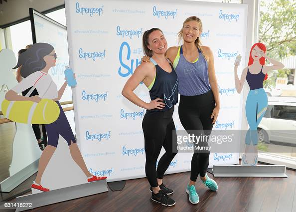 Ariana Kukors and Supergoop coowner Maria Sharapova attend the Supergoop #ProtectYourPosse event with Maria Sharapova on January 10 2017 in Los...