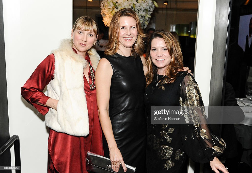 Ariana Lambert Smeraldo, Candace Nelson and Jennifer Hawks attend LAXART Vision dinner At Mr. Chow sponsored by Jay Carlile and Guess at Mr. Chow on December 10, 2012 in Los Angeles, California.