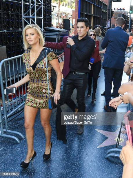 Ariana Madix and Tom Sandoval are seen on June 28 2017 in Los Angeles California