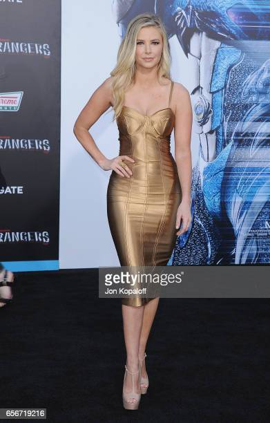 Ariana Madix arrives at the Los Angeles Premiere 'Power Rangers' at the Westwood Village Theater on March 22 2017 in Westwood California