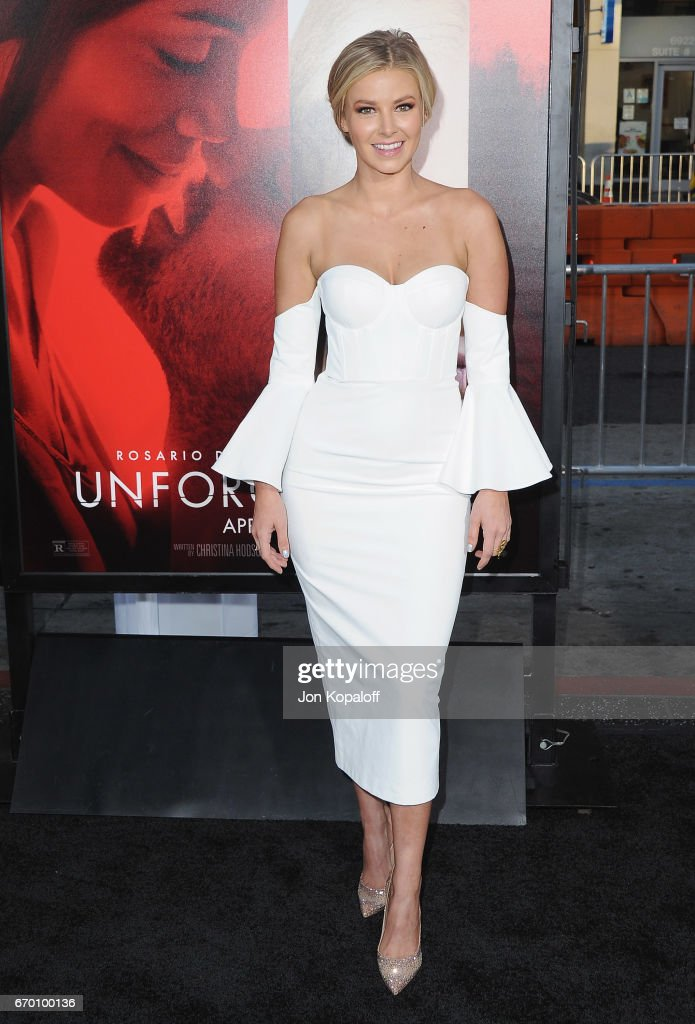 Ariana Madix arrives at the Los Angeles Premiere 'Unforgettable' at TCL Chinese Theatre on April 18, 2017 in Hollywood, California.