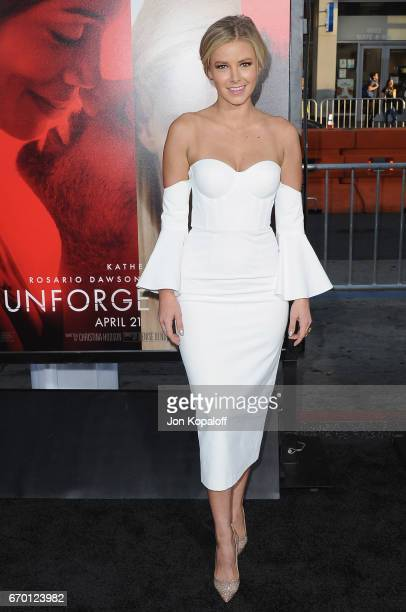 Ariana Madix arrives at the Los Angeles Premiere 'Unforgettable' at TCL Chinese Theatre on April 18 2017 in Hollywood California