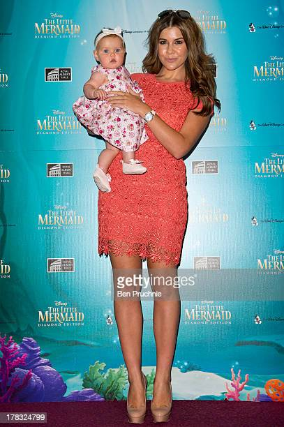 Ariana Thomas and Imogen Thomas attends the BluRay Premiere of 'The Little Mermaid' at Royal Albert Hall on August 29 2013 in London England