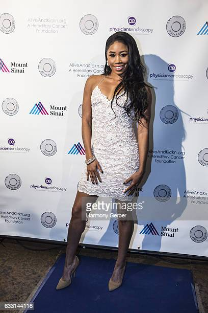 Ariane Andrew arrives to the 2017 Blues Genes Bash at Herb Alpert's Vibrato Grill Jazz on January 30 2017 in Los Angeles California