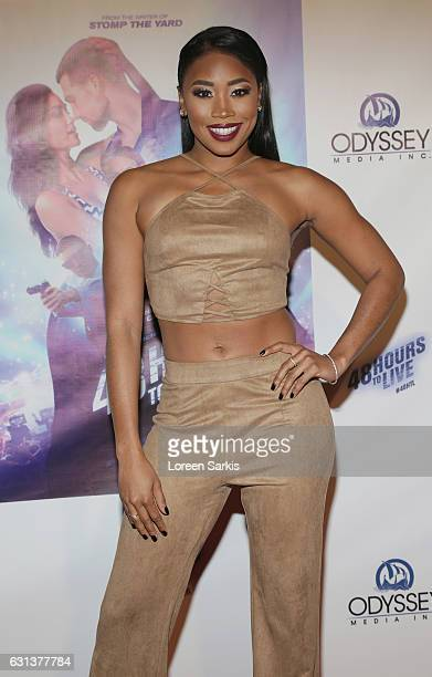 Ariane Andrew attends the premiere of Gravitas Pictures' '48 Hours To Live' at TCL Chinese 6 Theatres on January 9 2017 in Hollywood California
