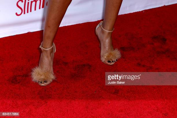 Ariane Andrew shoe detail attends OK Magazine's PreGRAMMY Event at Avalon Hollywood on February 9 2017 in Los Angeles California