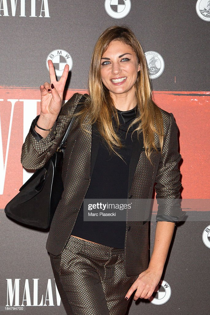 Ariane Brodier attends the 'Malavita' premiere on October 16, 2013 in Roissy-en-France, France.