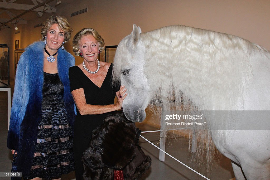 Ariane Dandois (R) and her daughter Ondine de Rothschild attend the opening of Thaddaeus Ropac's new gallery on October 13, 2012 in Pantin, France.