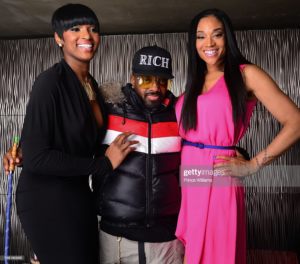 Ariane Davis, Jermain Dupri and Mimi Faust attend the birthday celebration of Mimi Faust at Halo Lounge on January 9, 2013 in Atlanta, Georgia.