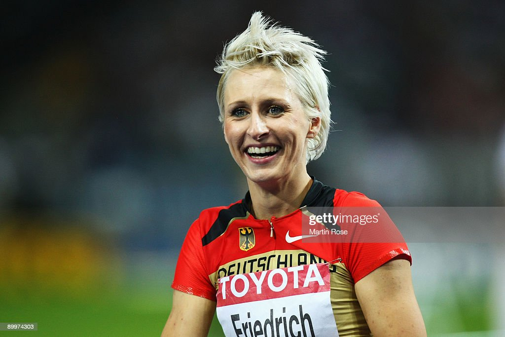 <a gi-track='captionPersonalityLinkClicked' href=/galleries/search?phrase=Ariane+Friedrich&family=editorial&specificpeople=2507867 ng-click='$event.stopPropagation()'>Ariane Friedrich</a> of Germany reacts in the women's High Jump Final during day six of the 12th IAAF World Athletics Championships at the Olympic Stadium on August 20, 2009 in Berlin, Germany.