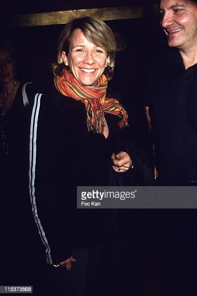 Ariane Massenet and Guest during Space Relaxation After Screening Party at Man Ray Club in Paris France