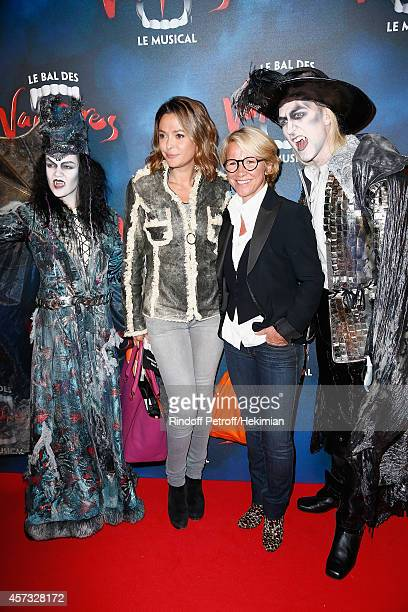 Ariane Massenet and Sandrine Quetier attend 'Le Bal Des Vampires' Premiere at Theatre Mogador on October 16 2014 in Paris France