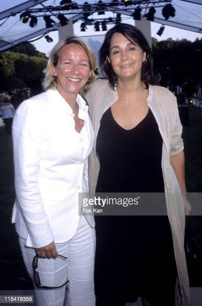 Ariane Massenet and Valerie Lexpert during Jaeger LeCoultre Reverso Watches Exhibition and Garden Party June 29 2006 at Musee Rodin in Cannes France