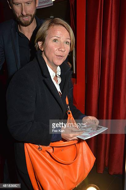 Ariane Massenet attends the 300th performance of Berangere Krief at the Theater Bobino on March 31 2014 in Paris France