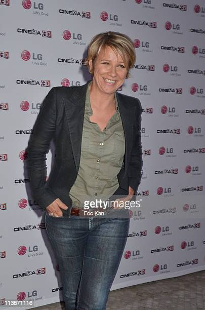 Ariane Massenet attends the 'LG 3D Screening Cocktail at the Grand Palais on April 24 2011 in Paris France