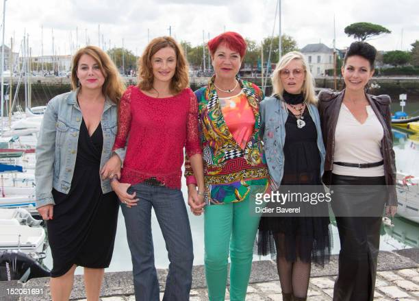 Ariane Seguillon Camille Japy Pascale Breugnot producer Florence Thomassin and Lio pose during the 'Tiger Lily' Photocall at La Rochelle Fiction...