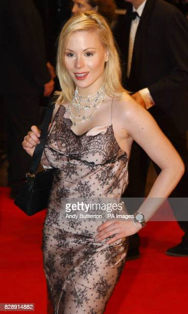 Ariane Sommer arrives for the Royal European Charity Premiere of Anthony Minghella's Cold Mountain at the Odeon Leicester Square in central London...