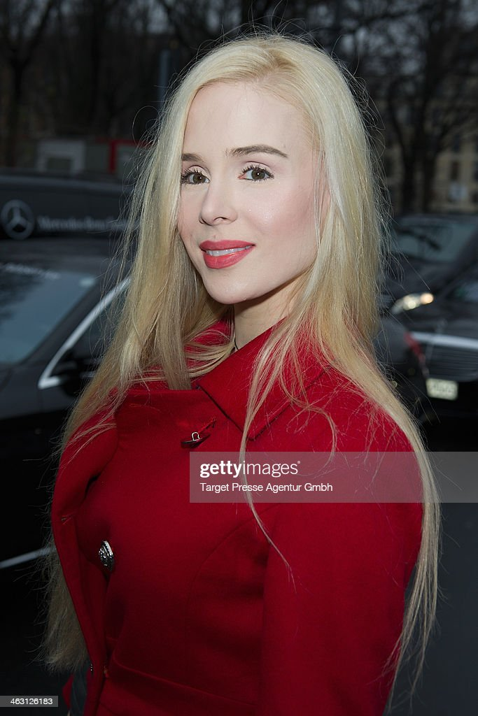 Ariane Sommer attends the Glaw show during Mercedes-Benz Fashion Week Autumn/Winter 2014/15 at Brandenburg Gate on January 16, 2014 in Berlin, Germany.