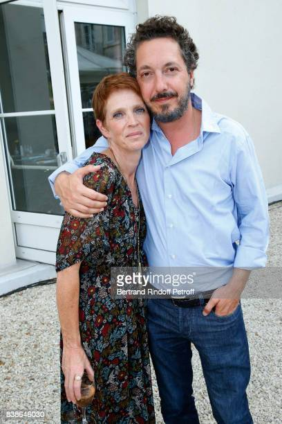 Ariane Toscan du Plantier and Guillaume Gallienne attend the 10th Angouleme FrenchSpeaking Film Festival Day Three on August 24 2017 in Angouleme...