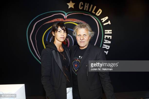 Arianna Alessi and Renzo Rosso attend Fashion For Relief 'Child At Heart' cocktail party on April 20 2017 in Paris France The 'Child At Heart'...