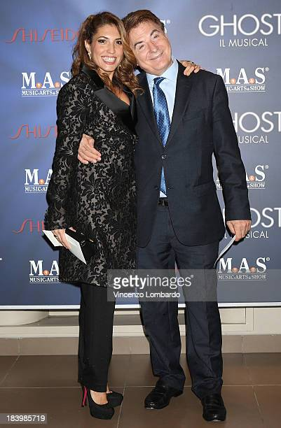 Arianna Bergamaschi and Paolo Limiti attend the opening night of 'Ghost The Musical' at the Teatro Nazionale on October 10 2013 in Milan Italy