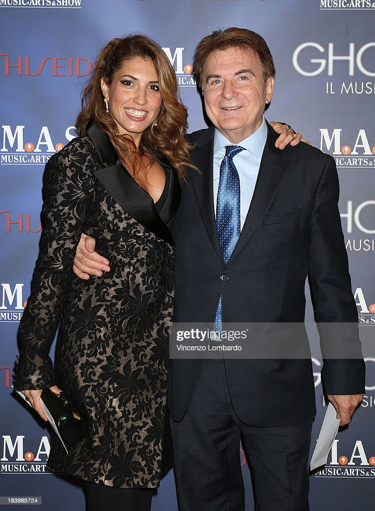 Arianna Bergamaschi and Paolo Limiti attend the opening night of 'Ghost - The Musical' at the Teatro Nazionale on October 10, 2013 in Milan, Italy.