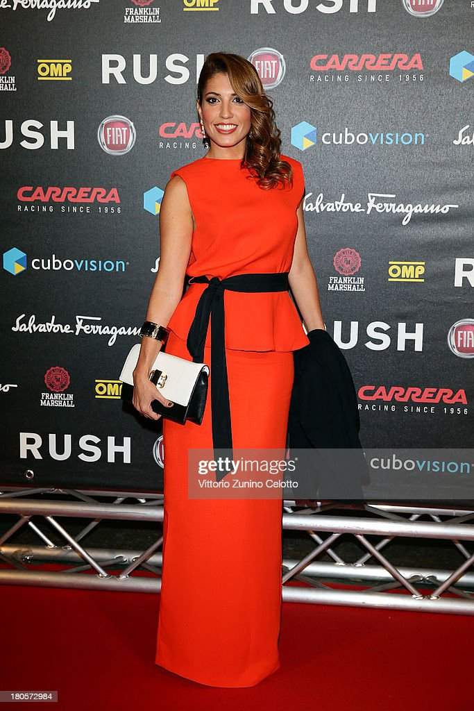 Arianna Bergamaschi attends 'Rush' The Movie Rome Premiere at Auditorium della Conciliazione on September 14, 2013 in Rome, Italy.