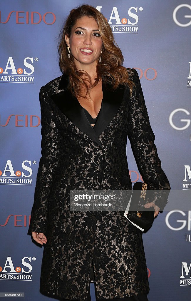 Arianna Bergamaschi attends the opening night of 'Ghost - The Musical' at the Teatro Nazionale on October 10, 2013 in Milan, Italy.