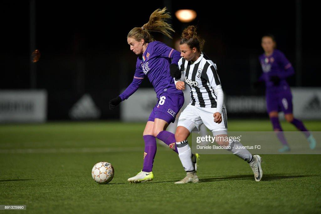 Arianna Caruso during the Juventus Women v Fiorentina match at Juventus Center Vinovo on December 8, 2017 in Vinovo, Italy.