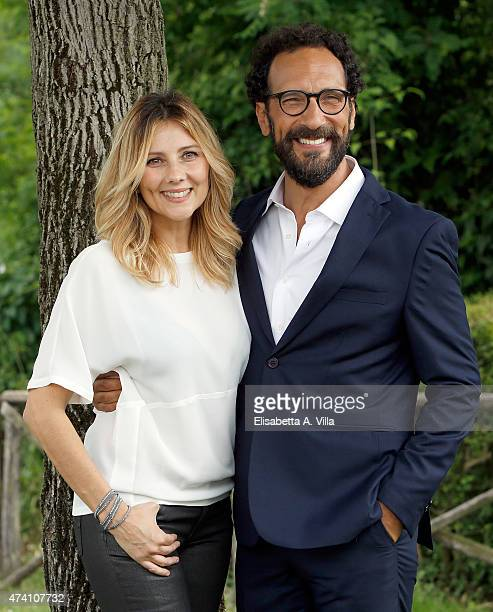 Arianna Ciampoli and Federico Quaranta attend 'Mezzogiorno Italiano' Tv Show photocall at RAI on May 20 2015 in Rome Italy