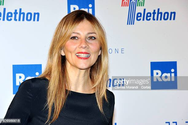 Arianna Ciampoli attends the 'Telethon' Press Conference on December 1 2016 in Rome Italy