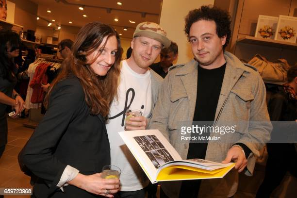 Arianna Costa Ryan Halladay and Andreas Costa attend INTERVIEW MAGAZINE and UNITED COLORS OF BENETTON Toast MIKE MILLS and 'Graphic Films' at United...