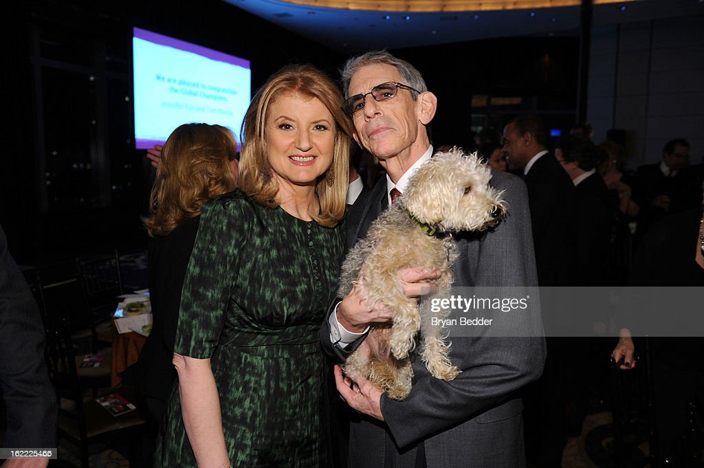 <a gi-track='captionPersonalityLinkClicked' href=/galleries/search?phrase=Arianna+Huffington&family=editorial&specificpeople=204730 ng-click='$event.stopPropagation()'>Arianna Huffington</a> and Actor <a gi-track='captionPersonalityLinkClicked' href=/galleries/search?phrase=Richard+Belzer&family=editorial&specificpeople=206227 ng-click='$event.stopPropagation()'>Richard Belzer</a> attends the Elizabeth Glaser Global Champions of a Mothers Fight Awards Dinner at Mandarin Oriental Hotel on February 20, 2013 in New York City.