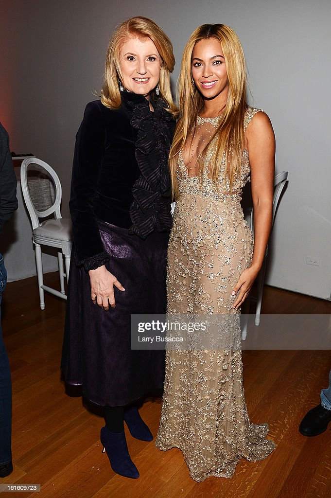Arianna Huffington and Beyonce attend the after party following the premiere of the HBO Documentary Film 'Beyonce: Life Is But A Dream' at Christie's on February 12, 2013 in New York City.