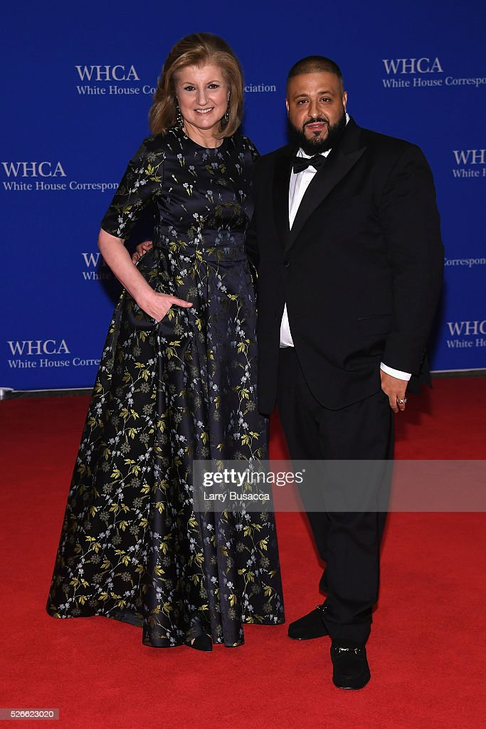 Arianna Huffington and DJ Khaled attend the 102nd White House Correspondents' Association Dinner on April 30 2016 in Washington DC