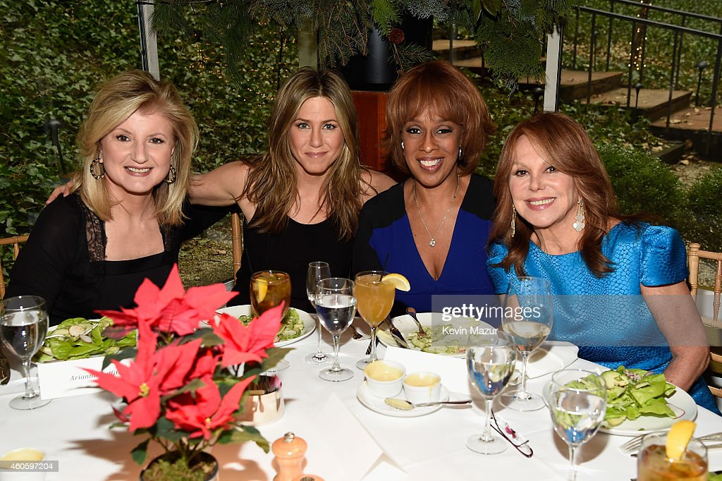 Arianna Huffington and Marlo Thomas host a Special Luncheon for Jennifer Aniston with Gayle King to celebrate CAKE at Michael's Restaurant on...