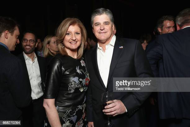 Arianna Huffington and Sean Hannity attend The Hollywood Reporter 35 Most Powerful People In Media 2017 at The Pool on April 13 2017 in New York City